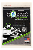 Kozak Auto Dry Wash 3.8 sq ft cloth 5 ounces/each